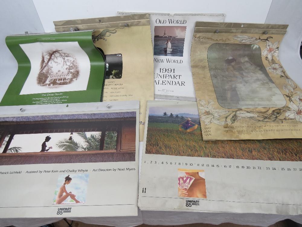 Lot 104 - A quantity of Unipart wall calendars; 19