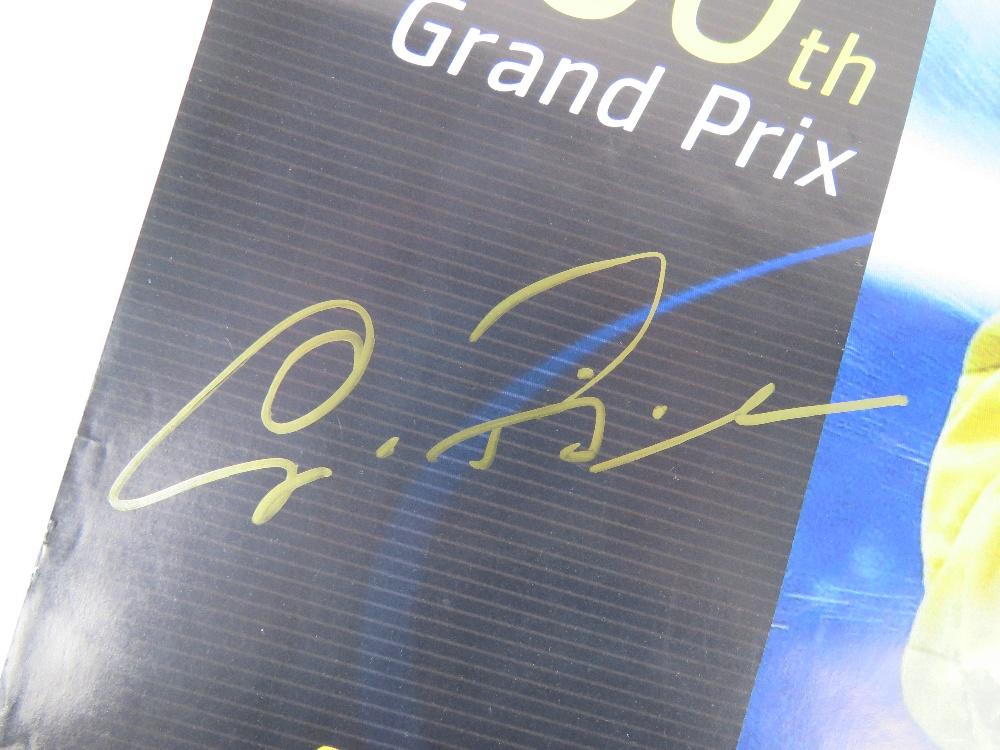 Lot 84 - A signed Jordan Giancarlo Fisichella pos