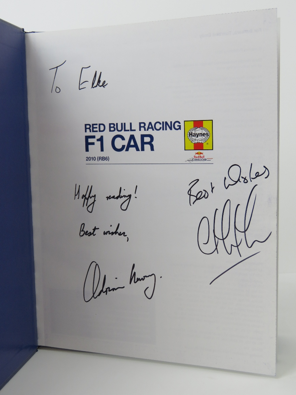 Lot 106 - Haines Owner Workshop Manual - Red Bull
