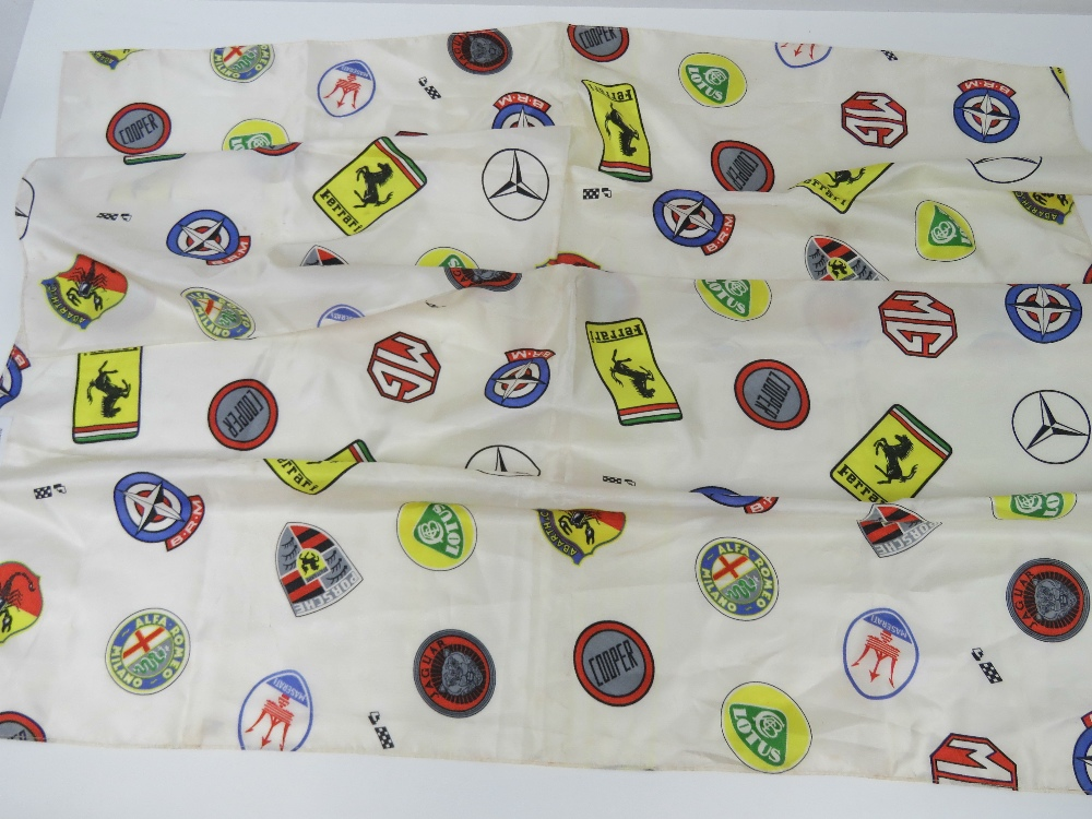 Lot 73 - A silk racing scarf embellished with the