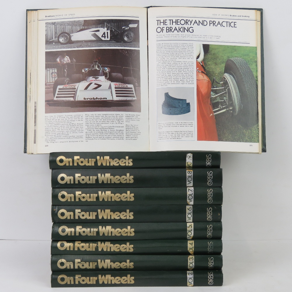 Lot 14 - Nine bound volumes of 'On Four Wheels'.