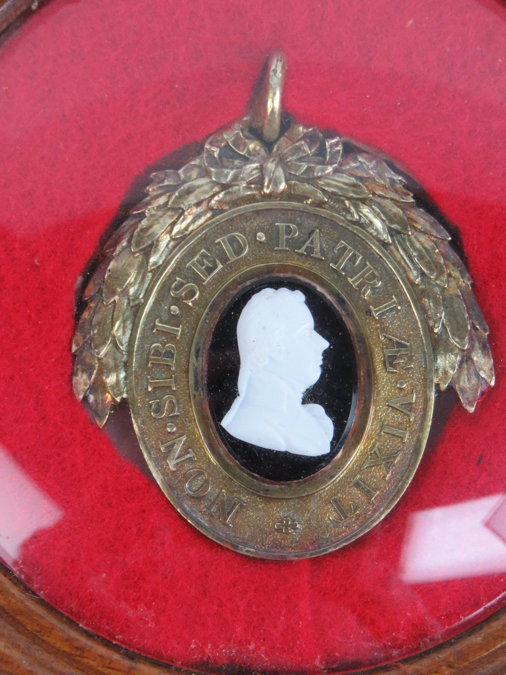 Lot 430 - A silver gilt oval Pitt Club badge,