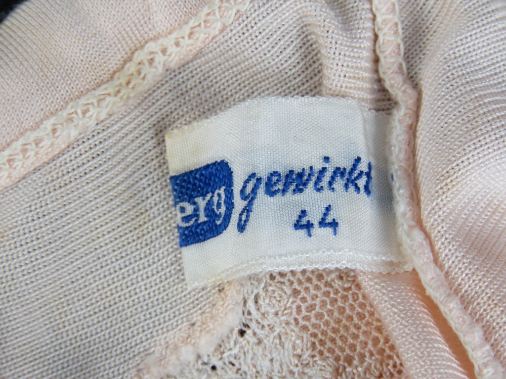 Lot 83 - A pair of elasticated vintage silk knickers believed to have been the personal property of Eva