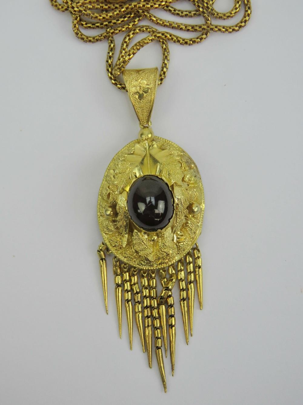 Lot 171 - A yellow metal pendant having large cent