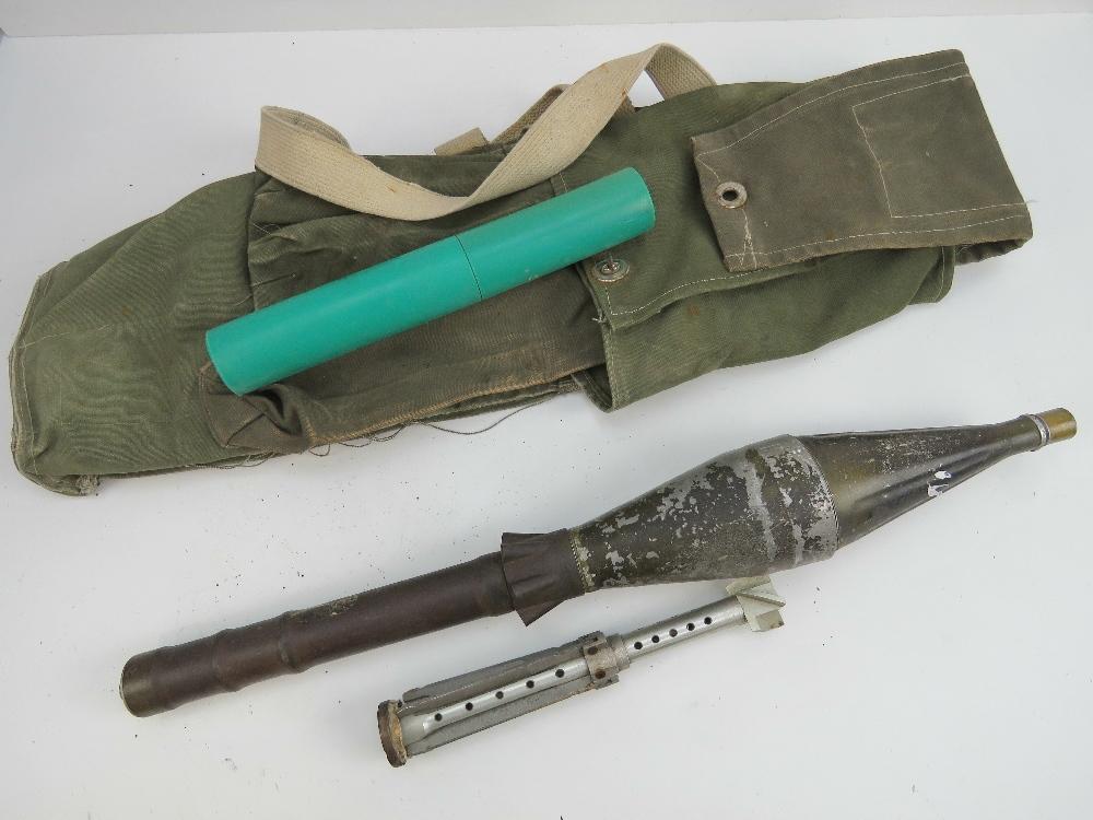 Lot 52 - An inert Soviet RPG 9 rocket with transi