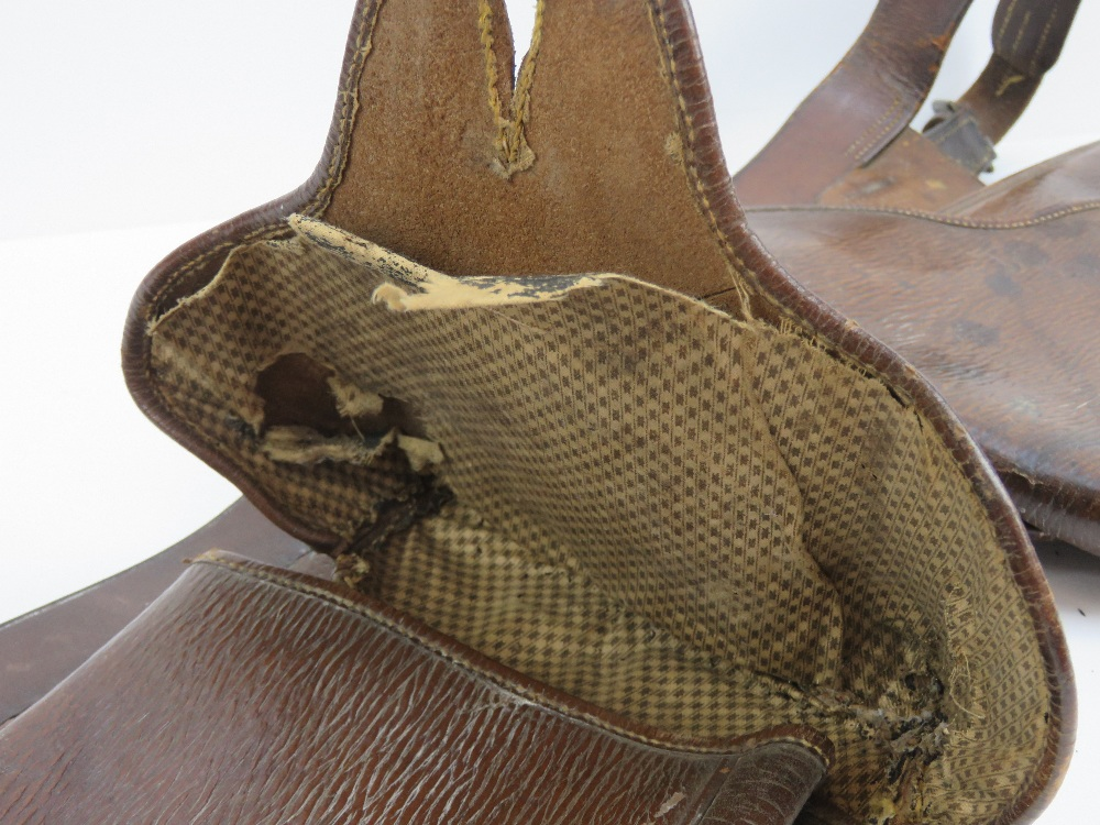 Lot 105 - A Boer War brown leather saddle bag with