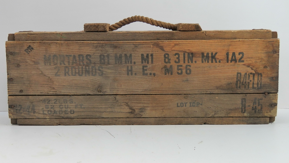 Lot 112 - A WWII US Military 81mm mortar transit c
