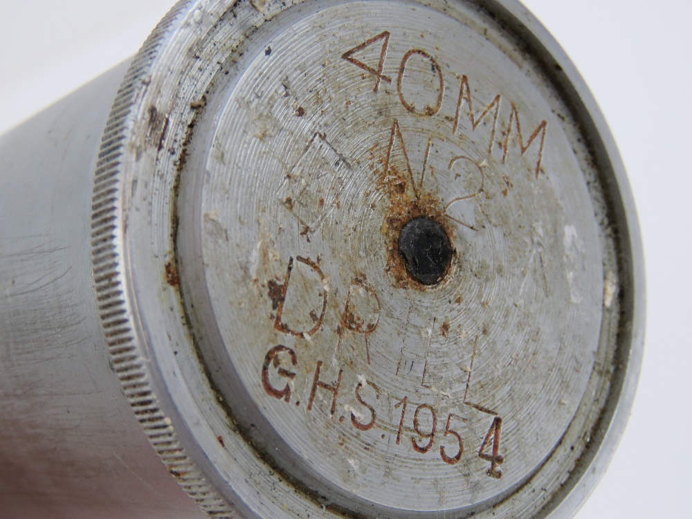 Lot 20 - A Bofors single inspection round dated 1
