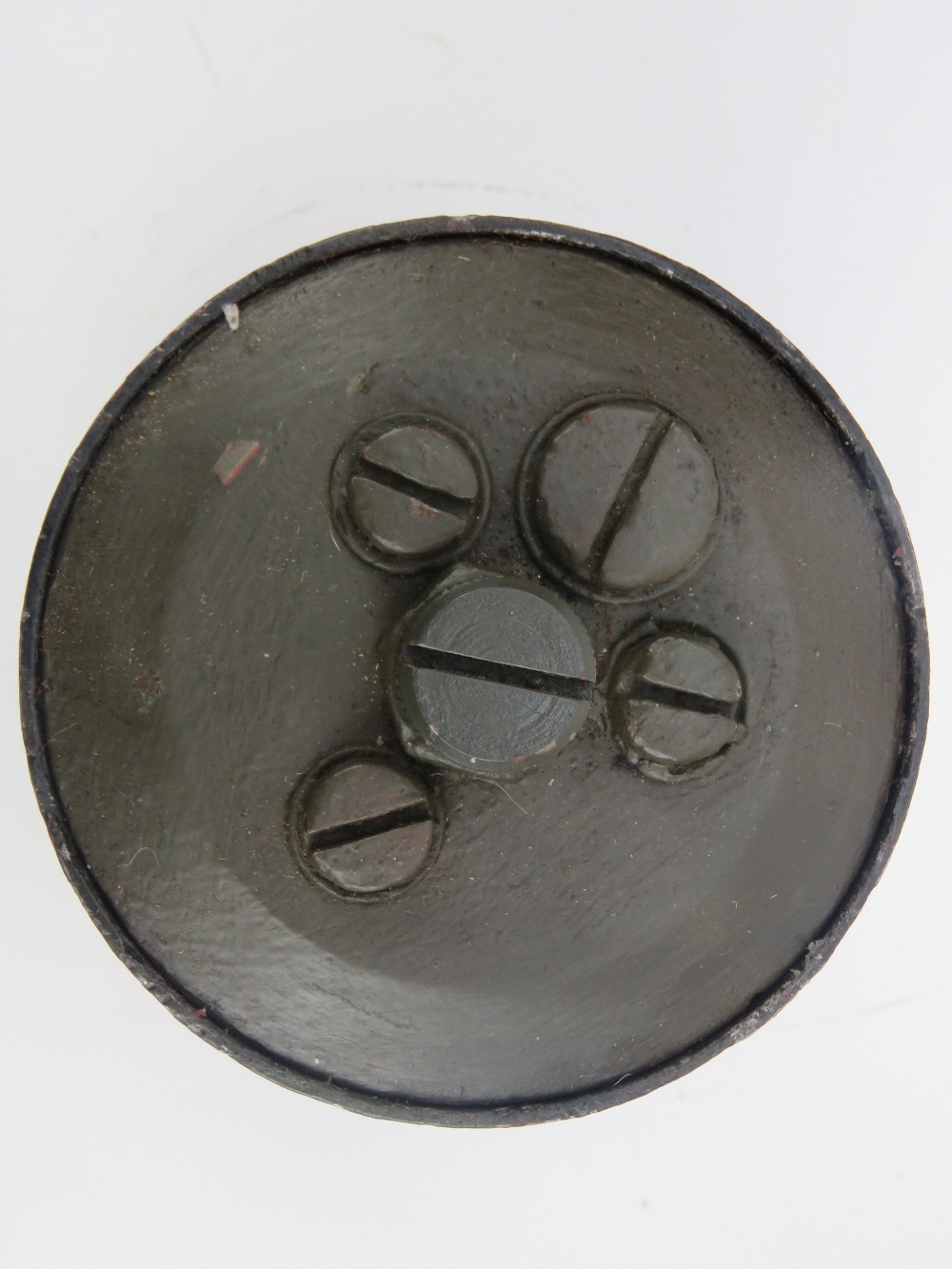 Lot 86 - A WWII German S Mine with transit plugs,