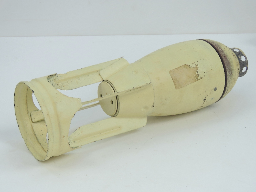 Lot 26 - An inert German SD4 hollow charge anti tank aeriel bomb together with timing fuse. Approx 32cm high