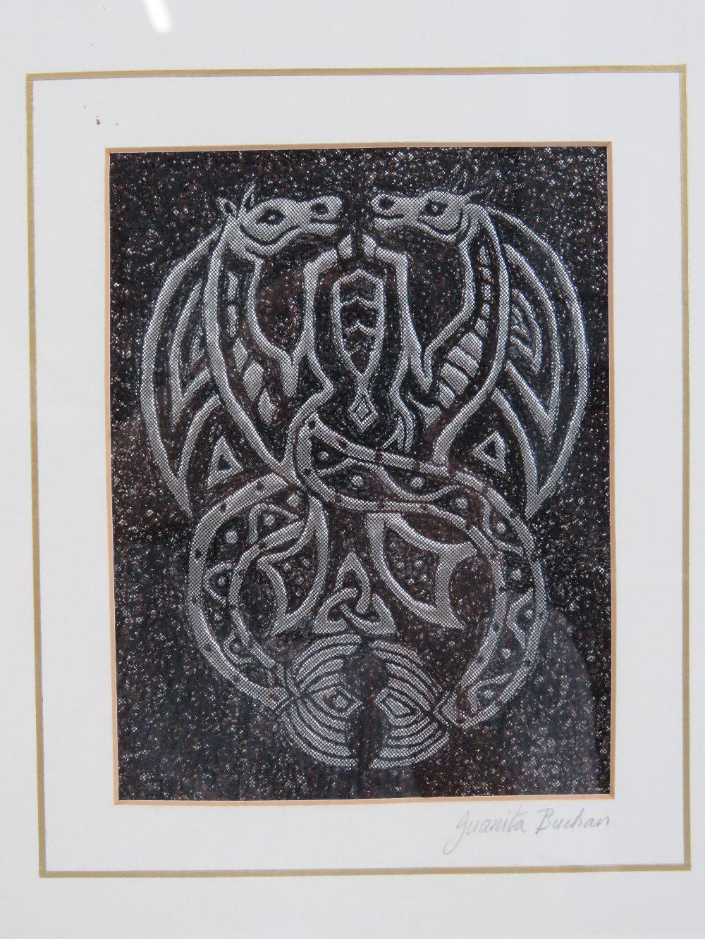 Lot 510 - Juanita Buchan; a framed abstract relief
