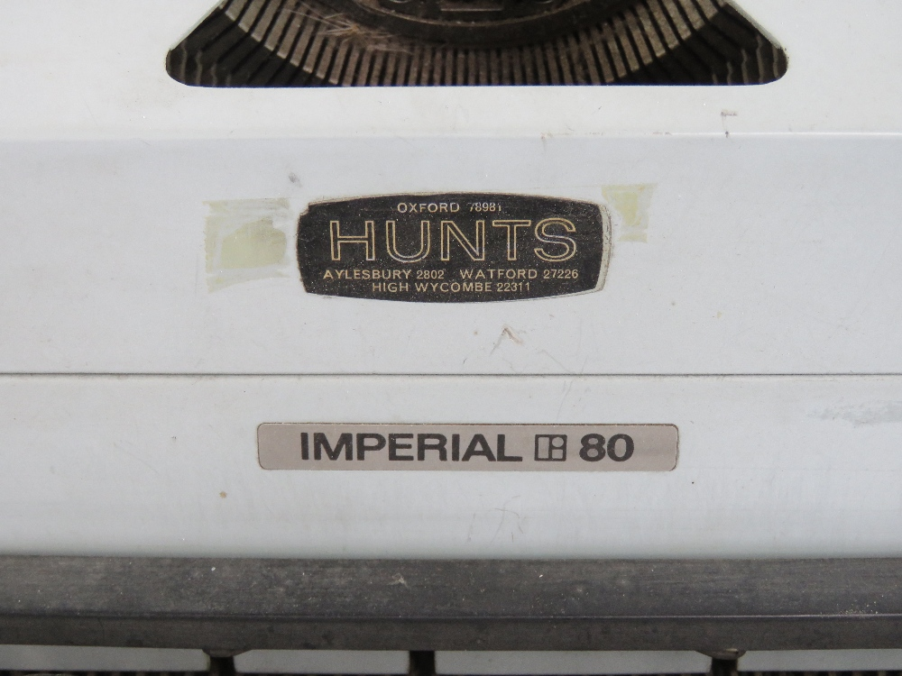 Lot 668 - A c1960s Hunts Imperial 80 typewriter.