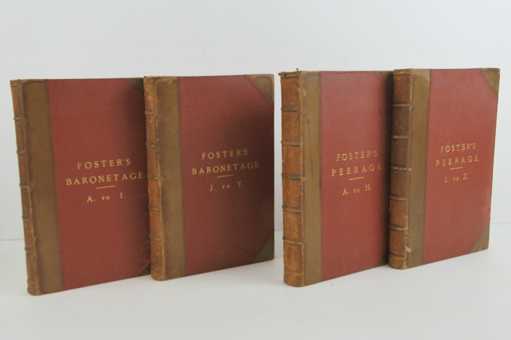 Lot 779 - Books; Fosters 'Baronetage' in two volum