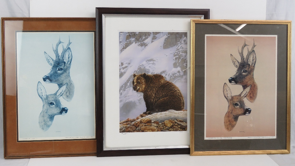 Lot 729 - A limited edition print of a grizzly bea