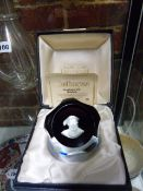 TWO CAITHNESS BOXED PAPERWEIGHTS. HENRY VIII SULPHIDE AND SPACE FLOWER