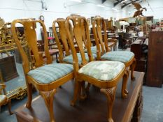 SET OF SEVEN BRIGHTS OF NETTLEBED OAK GEO 1 STYLE DINING CHAIRS INCLUDING A CARVER. (7)