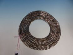 A MEXICAN 'STERLING 925 CHOKER FORMED OF SEVEN BANDS OF LINKS, INDISTINCT MAKER'S MARK, INTERNAL DIA