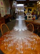 A PAIR OF IMPRESSIVE MODERNIST PERSPEX CHANDELIER LIGHT FITTINGS