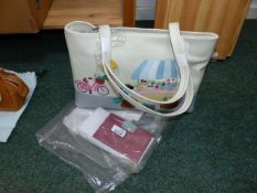RADLEY GRAB BAG, MARKET DAY, COMPLETE WITH MATCHING PURSE AND DUST COVERS, RADLEY CHARM AND CHANGE