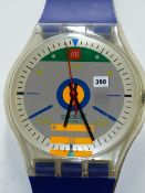 A RARE VINTAGE SWATCH GIANT SIZE WRISTWATCH WALL CLOCK. c.1988.