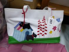 A RADLEY PICTURE GRAB BAG, GARDEN, WITH RADLEY CHARM, LEATHER CLEANING KIT, REMOVABLE SHOULDER STRAP