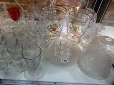 A QUANTITY OF DRINKING AND OTHER GLASS.