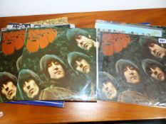 TWENTY THREE BEATLES LP ALBUMS TO INCLUDE SOME DUPLICATES, IN MONO AND STEREO TOGETHER WITH A
