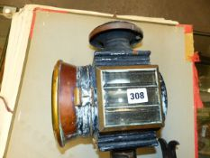 C & B GADSON, A PAIR OF BLACK PAINTED COPPER CARRIAGE LIGHTS AND BRACKETS CURRENTLY CONVERTED FOR