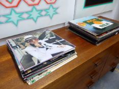 A MIXED COLLECTION OF VARIOUS RECORDS ALBUMS.