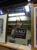 A VINTAGE PEPSI-COLA WALL MIRROR. 58 x 81cms.