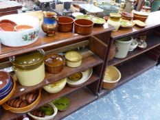 A COLLECTION OF COLDSTONE AND OTHER POTTERY WARES.