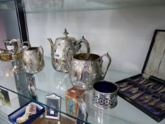 A QTY OF SILVER PLATED WARES