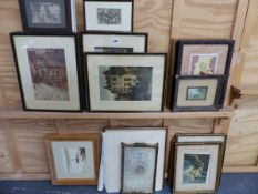 A QTY OF DECORATIVE PRINTS AND PICTURES.