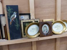 BAXTER PRINTS AND VARIOUS MINIATURE PICTURES.