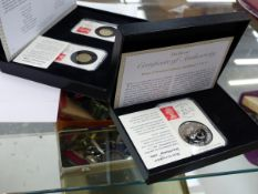 LIMITED EDITION CASED DATESTAMPS TO INCLUDE A £5, TWO £1,AND TWO 50p.