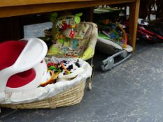 A COLLECTION OF GOOD QUALITY AND GOOD CONDITION CHILD'S NURSERY EQUIPMENT.