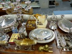 A QTY OF VARIOUS PLATEDWARES,ETC.
