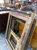 VARIOUS GILT PICTURE FRAMES.