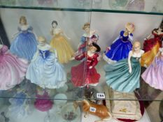 A COLLECTION OF TEN ROYAL DOULTON CLASSICS FIGURINES.