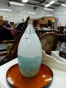 A RETRO LIGHT SHADE, GLASS VASE,ETC.