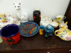 A COLLECTION OF VARIOUS POOLE STUDIO ART AND OTHER POTTERY WARES.