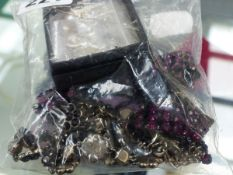 A QUANTITY OF JEWELLERY TO INCLUDE A PAIR OF DIAMOND AND PEARL DROP EARRINGS, COSTUME JEWELLERY ETC.