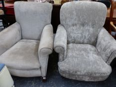 TWO LARGE ARMCHAIRS.