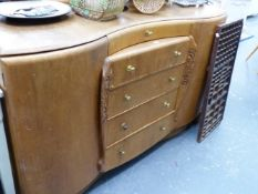 AN ART DECO SIDEBOARD.