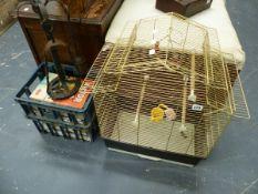 A BIRD CAGE, CHILDREN'S BOOKS,ETC.