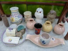 A COLLECTION OF VARIOUS POOLE POTTERY.