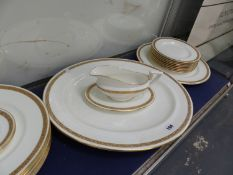 A QTY OF ROYAL WORCESTER GOLDEN ANNIVERSARY DINNER WARES.