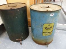 TWO VINTAGE FUEL CANS.