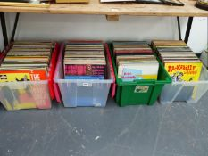 A LARGE COLLECTION OF RECORDS.