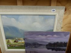 AN OIL PAINTING CROFTER'S COTTAGES AND ONE OTHER.